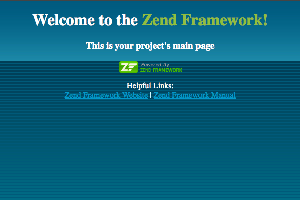 welcome-to-the-zend-framework